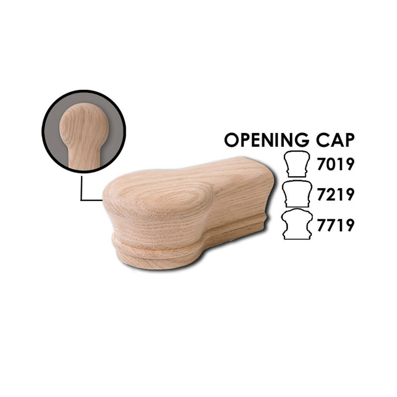 7019 Opening Cap Wood Handrail Fitting Wood Handrail Fitting House of Forgings