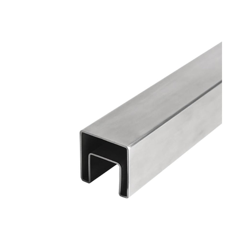 Square Glass Cap Rail Tubing – 40 x 40 mm