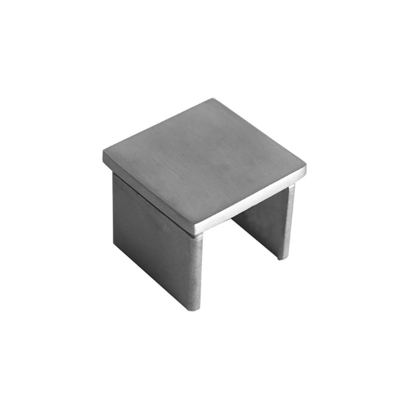 Square Glass Cap Rail End Cap