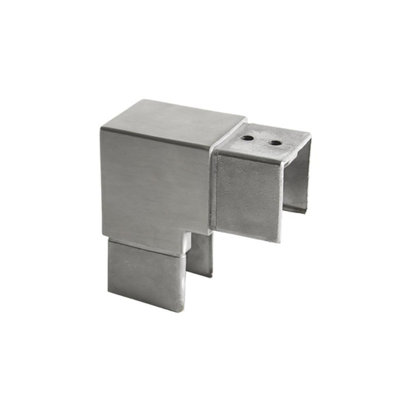 Square Glass Cap Rail Vertical 90 Degree Fitting