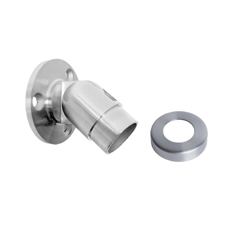 Adjustable Wall Mount Flange for 42.4 mm Round Rail