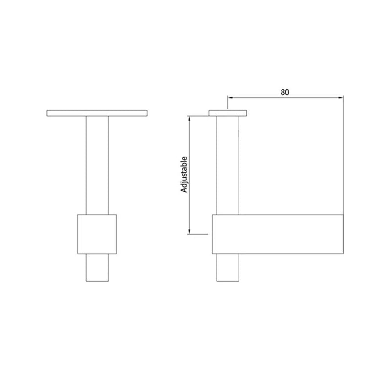 Post Handrail Support for Square Posts Square Handrail Options House of Forgings