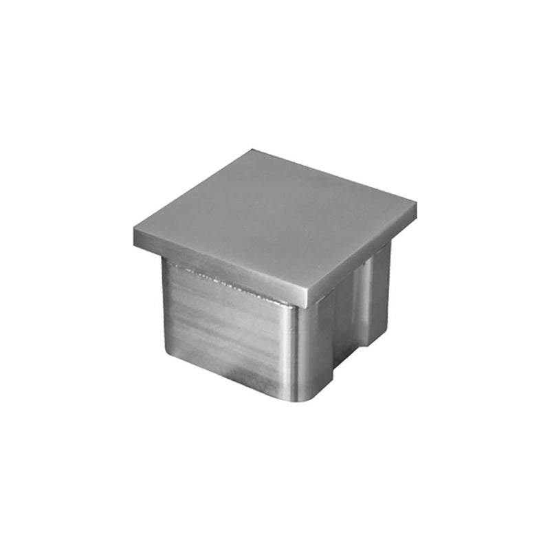 Flat End Cap for Square Rail – 40 x 40 x 2 mm
