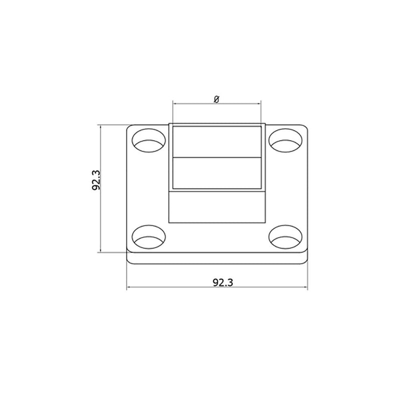 Wall Mount Flange for Square Rail – 40 x 40 x 2 mm Square Handrail Options House of Forgings