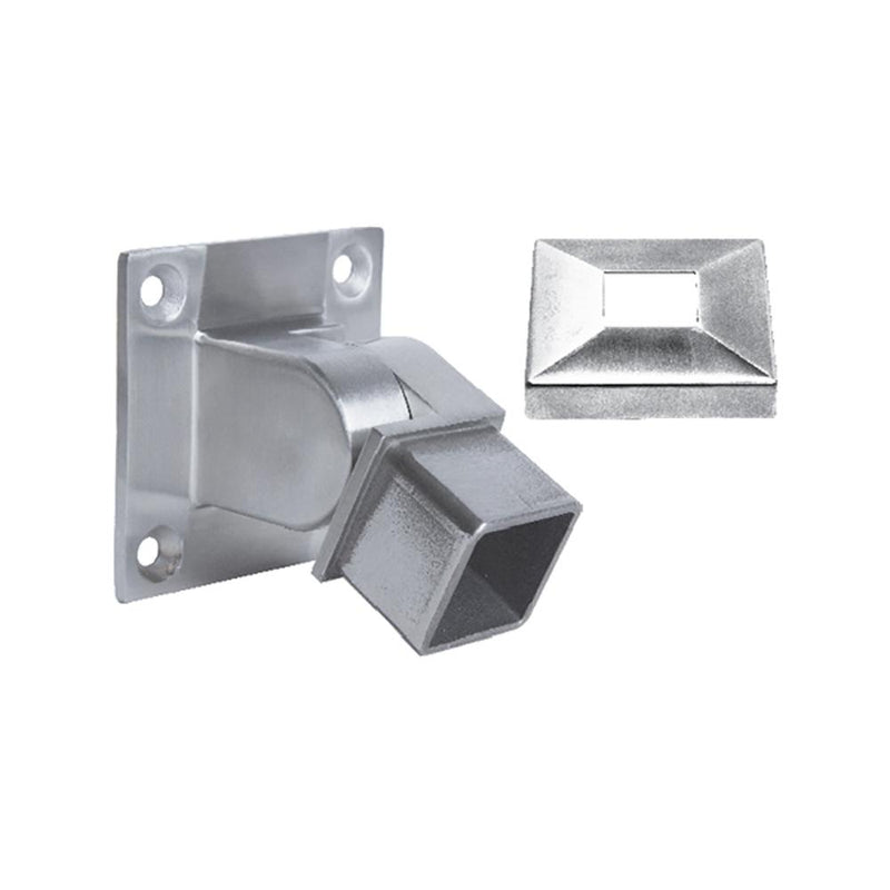 Adjustable Wall Mount for Square Handrail – 40 x 40 x 2 mm Square Handrail Options House of Forgings