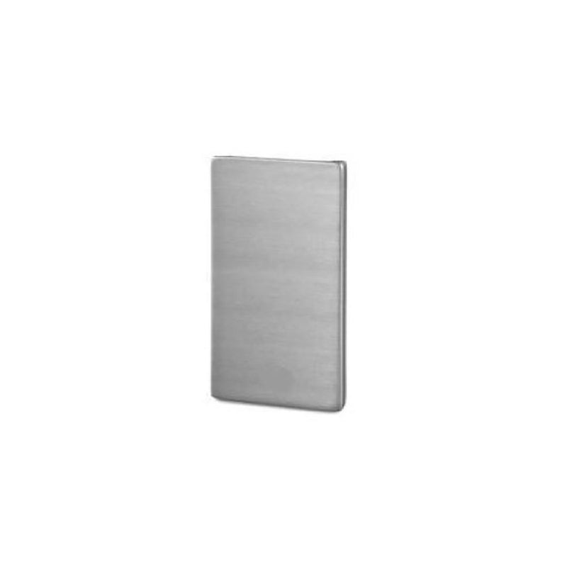 Wall Mount U Channel 120 x 45 mm GLASS U CHANNEL SERIES House of Forgings End Cap - Angle / Rake
