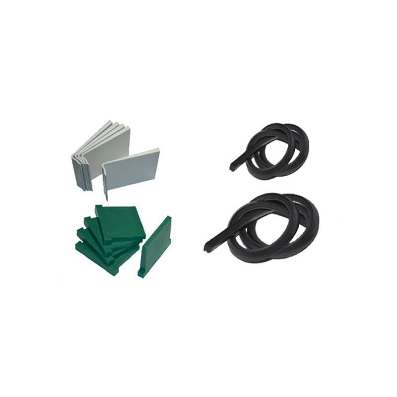 Wall Mount U Channel 120 x 45 mm GLASS U CHANNEL SERIES House of Forgings Wedge Kit for U-Channel