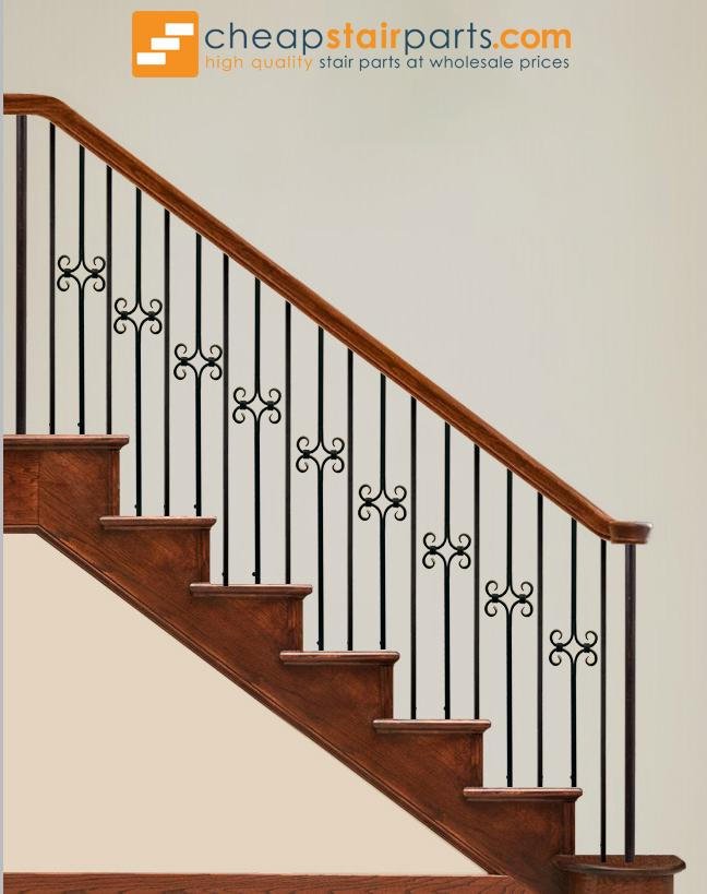 16.8.6 Plain Square Hollow Bar Iron Baluster - Cheap Stair Parts