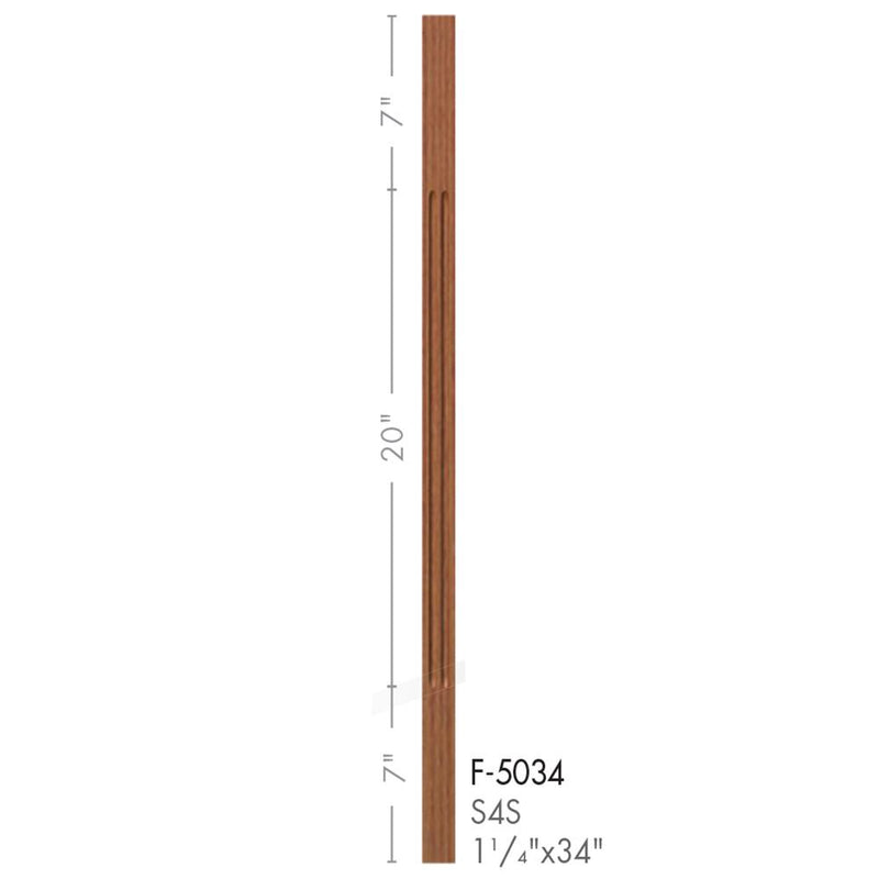 5034 Contemporary Style S4S Fluted Baluster