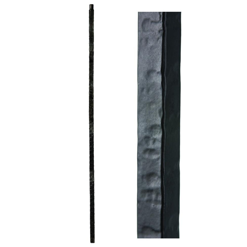 1.1.23 Wentworth Hammered Iron Newel Post Iron Newel House of Forgings