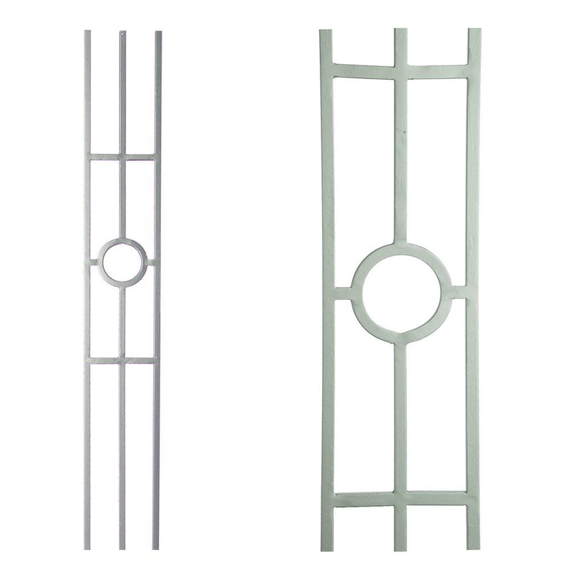16.1.32-T Single Ring 3 Legged Panel Hollow Iron Baluster House of Forgings