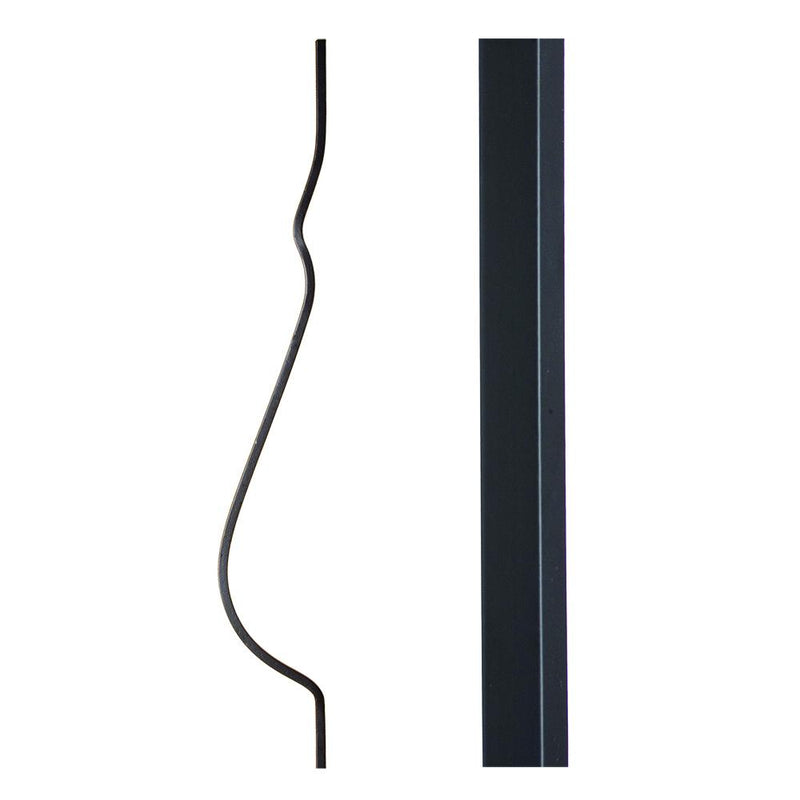 16.2.4 Plain Belly Iron Baluster - Satin Black - Cheap Stair Parts