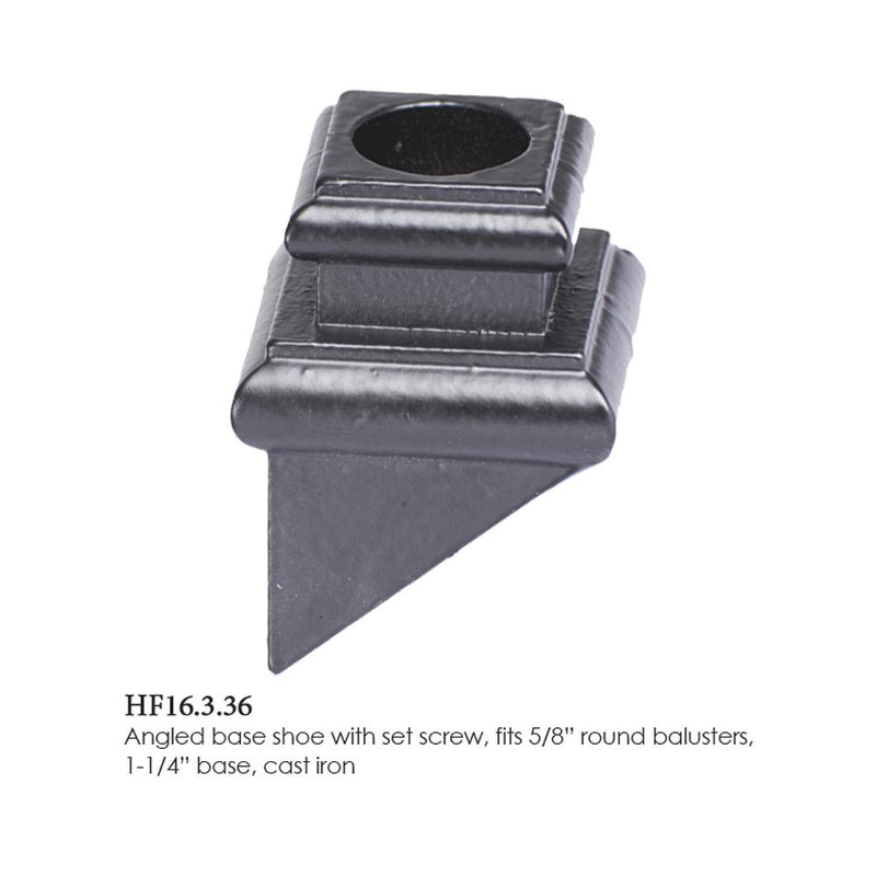 16.3.36 Round Hole Angled Base Shoe with Set Screw Base Shoes House of Forgings