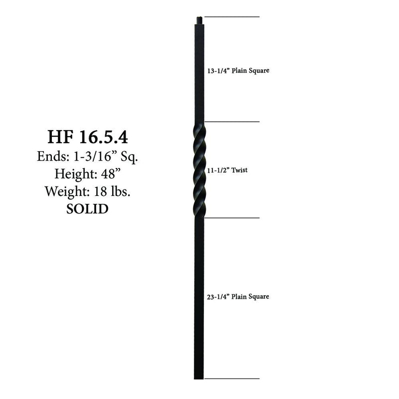 16.5.4 Single Twist Iron Newel Post Iron Newel House of Forgings