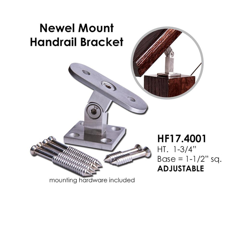 Adjustable Wood Post Handrail Support Handrail Bracket House of Forgings
