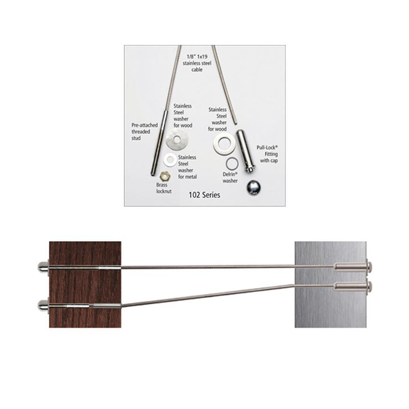 Outside to Outside Cable Kit for Steel or Wood Posts