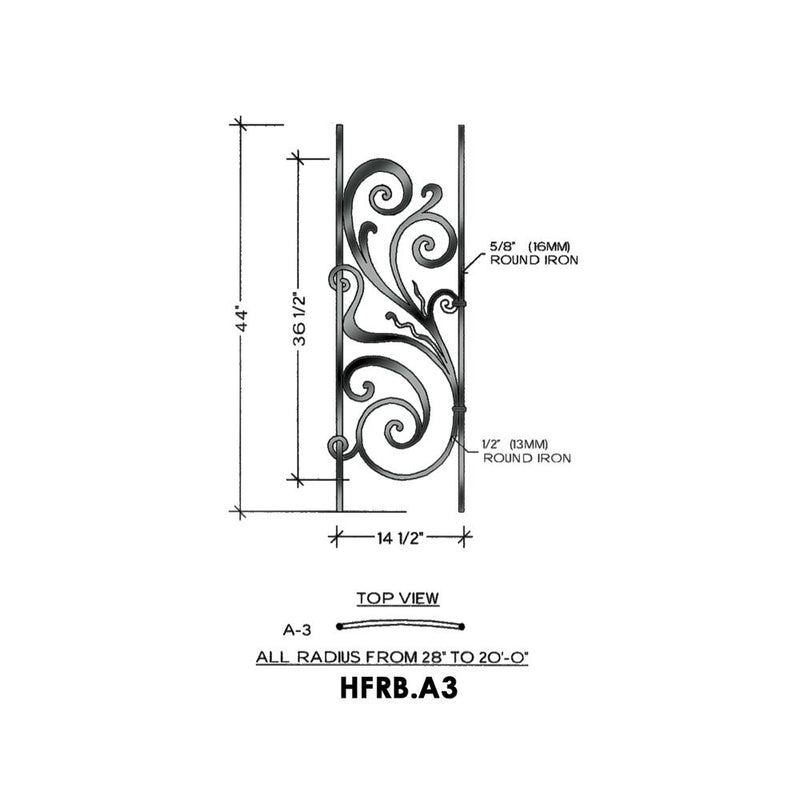 Rebecca A3 - Level & Curved Iron Panel House of Forgings