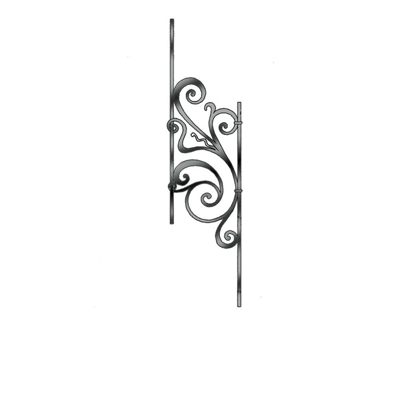 Rebecca C2 - Curved & Angled Panel Iron Panel House of Forgings