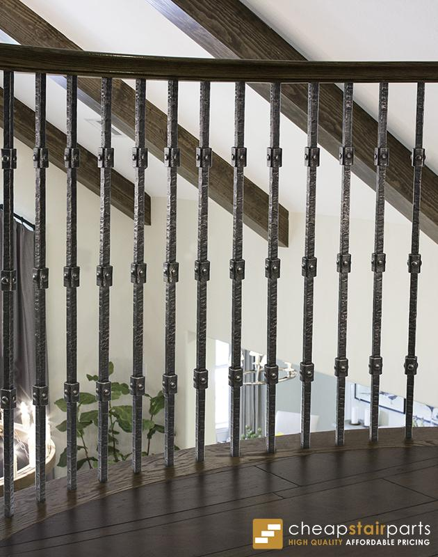 3.2.2 Wentworth Triple Knuckle Hammered Iron Baluster House of Forgings