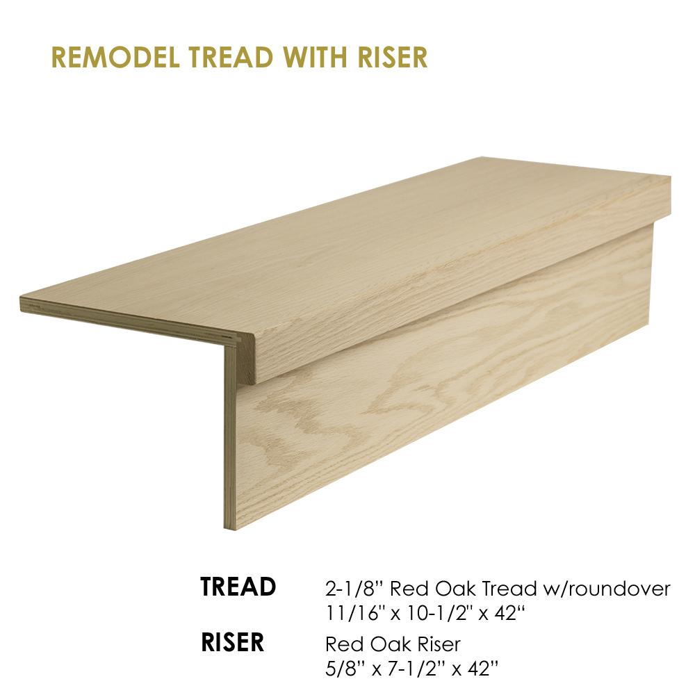 42 Modern Retrofit Tread Kit With Riser Staircase Diagram Classic Stairs And Remodeling Cheap Stair Parts