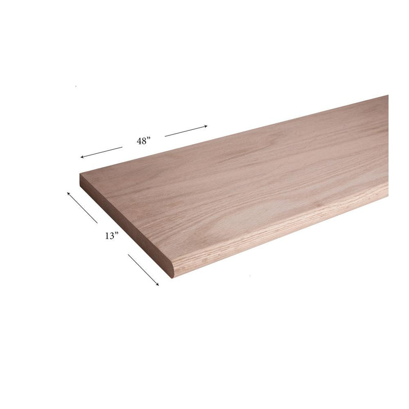 13″ x 48″ Bullnosed Stair Tread - Cheap Stair Parts