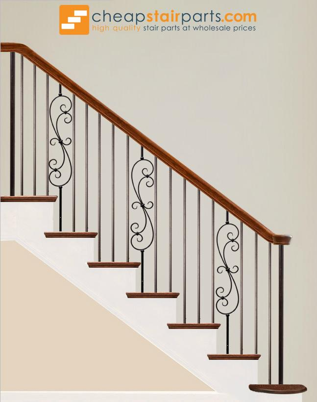 16.2.2 Plain Round Bar Iron Baluster - Cheap Stair Parts