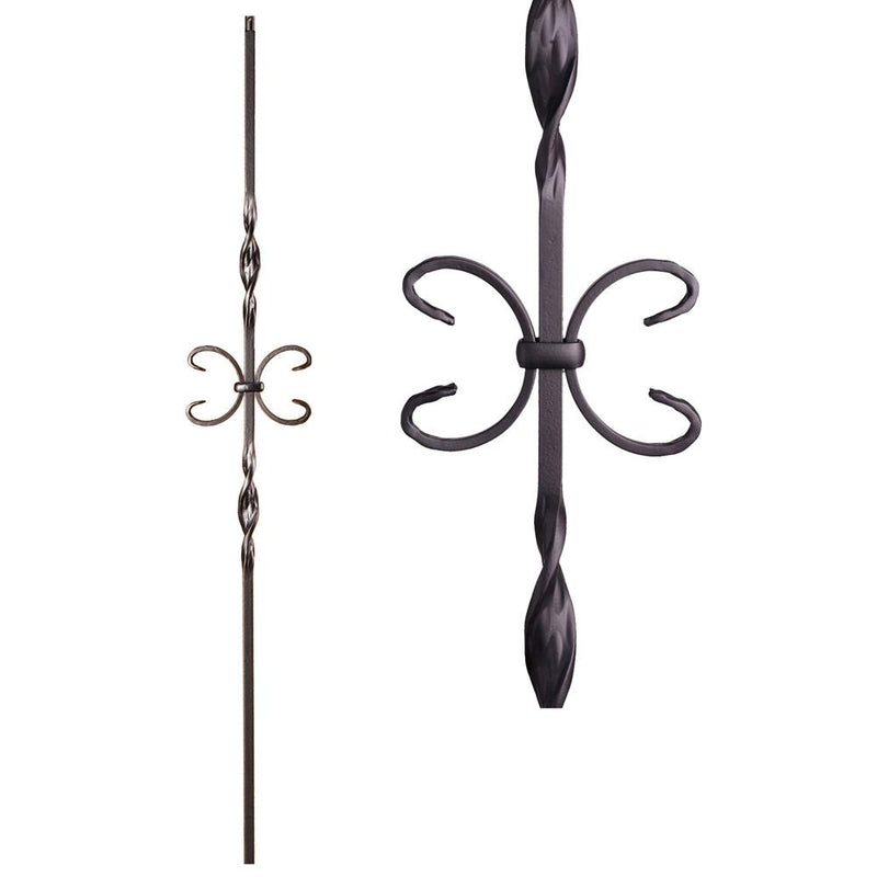 16.1.10 Single Butterfly Iron Baluster - Cheap Stair Parts