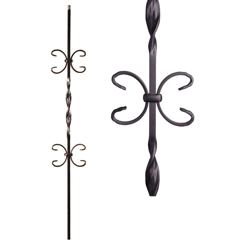 16.1.11 Double Butterfly Iron Baluster - Cheap Stair Parts
