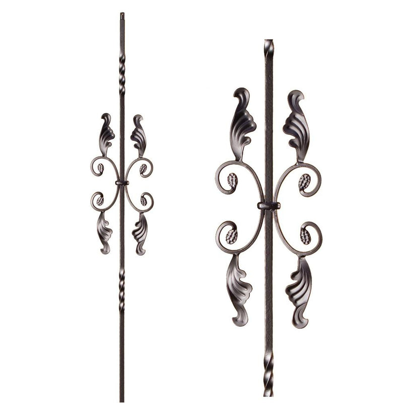 16.1.16 Double Twist Single Butterfly Iron Baluster - Oil Rubbed Bronze Iron Baluster House of Forgings