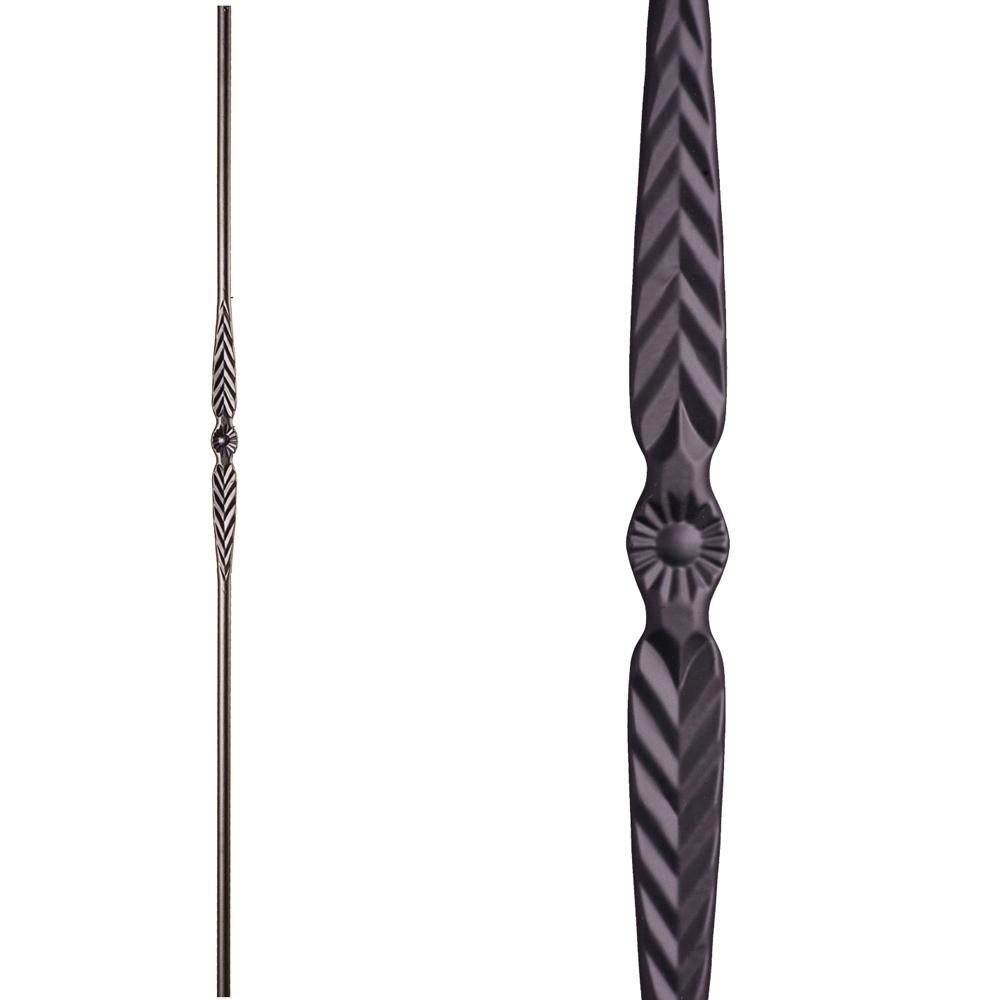 6b8bfb96b 16.1.17 Single Feather Iron Baluster - Satin Black Iron Baluster House of  Forgings ...