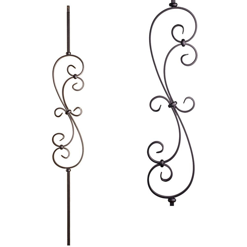 16.1.25-S Small Spiral Scroll Iron Baluster House of Forgings