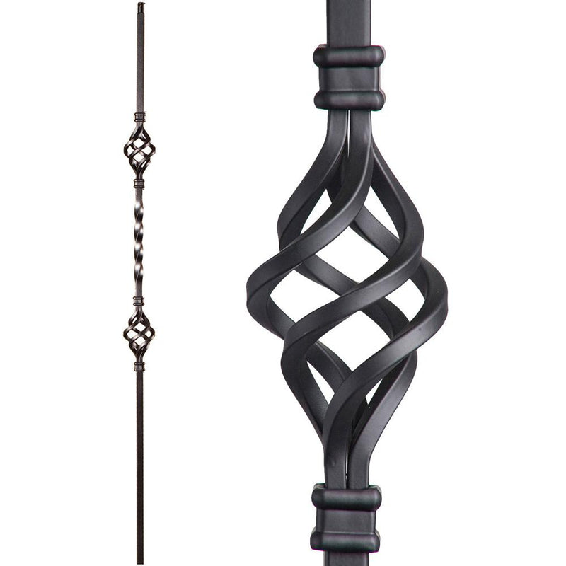 16.1.4 Double Basket Iron Baluster Iron Baluster House of Forgings