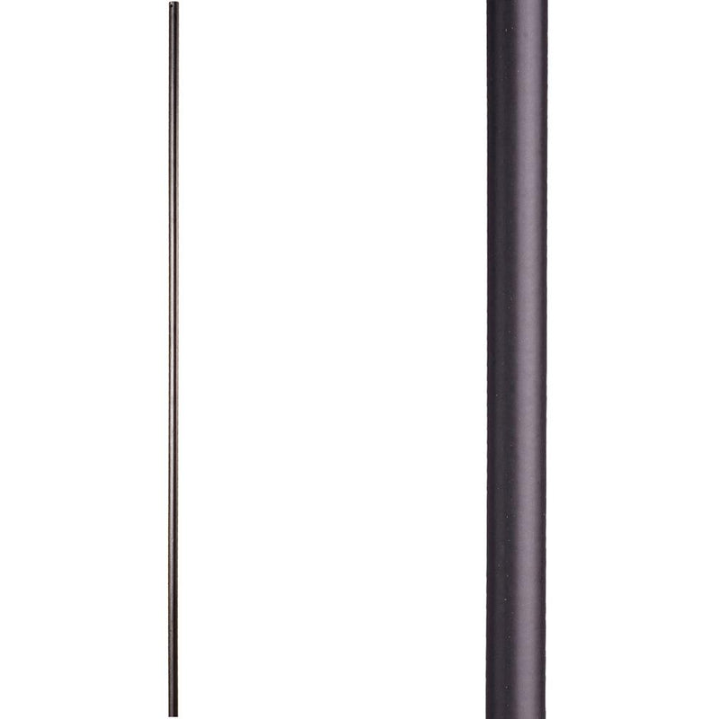 16.2.2 Plain Round Bar Iron Baluster - Satin Black Iron Baluster House of Forgings