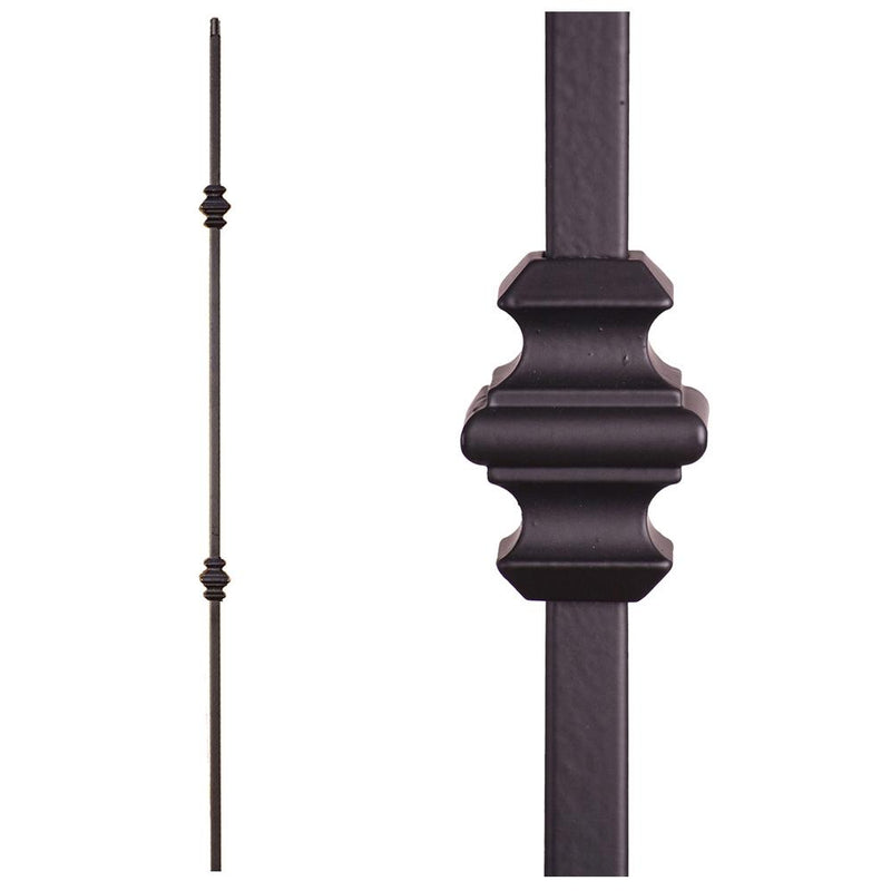 16.8.11 Double Knuckle Hollow Iron Baluster - Cheap Stair Parts