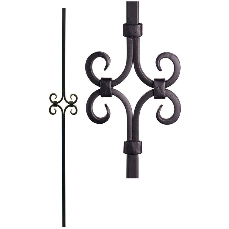 16.8.8 Hollow Diamond Spirals Iron Baluster Iron Baluster House of Forgings