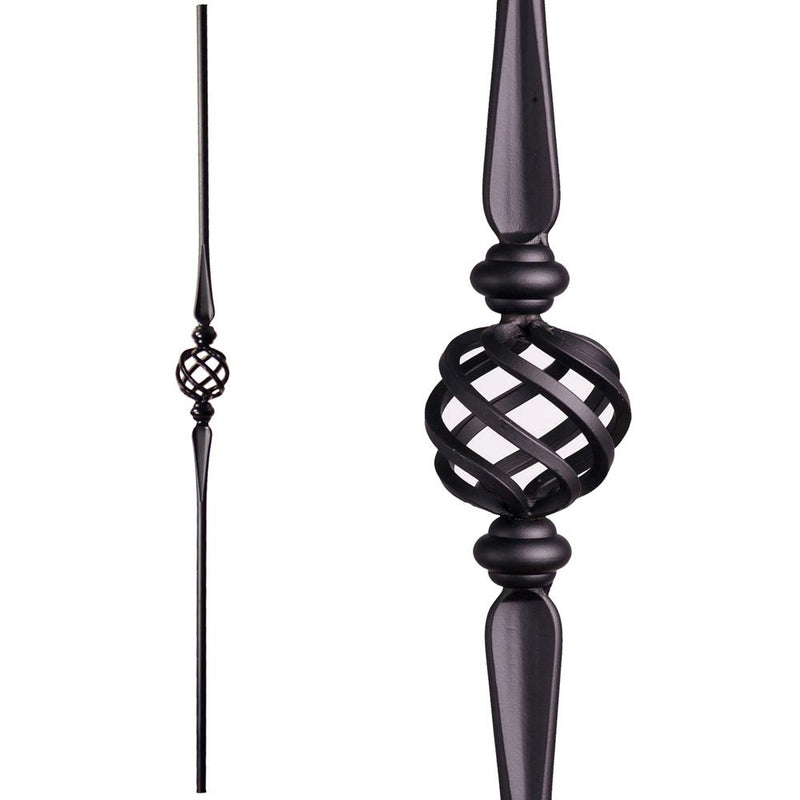 2.11.16-T Single Basket Hollow Baluster Iron Baluster House of Forgings