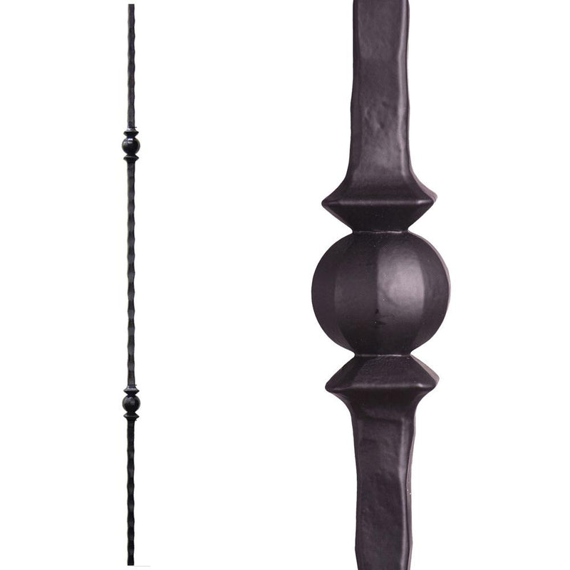2.9.26 Double Sphere Iron Baluster Iron Baluster House of Forgings