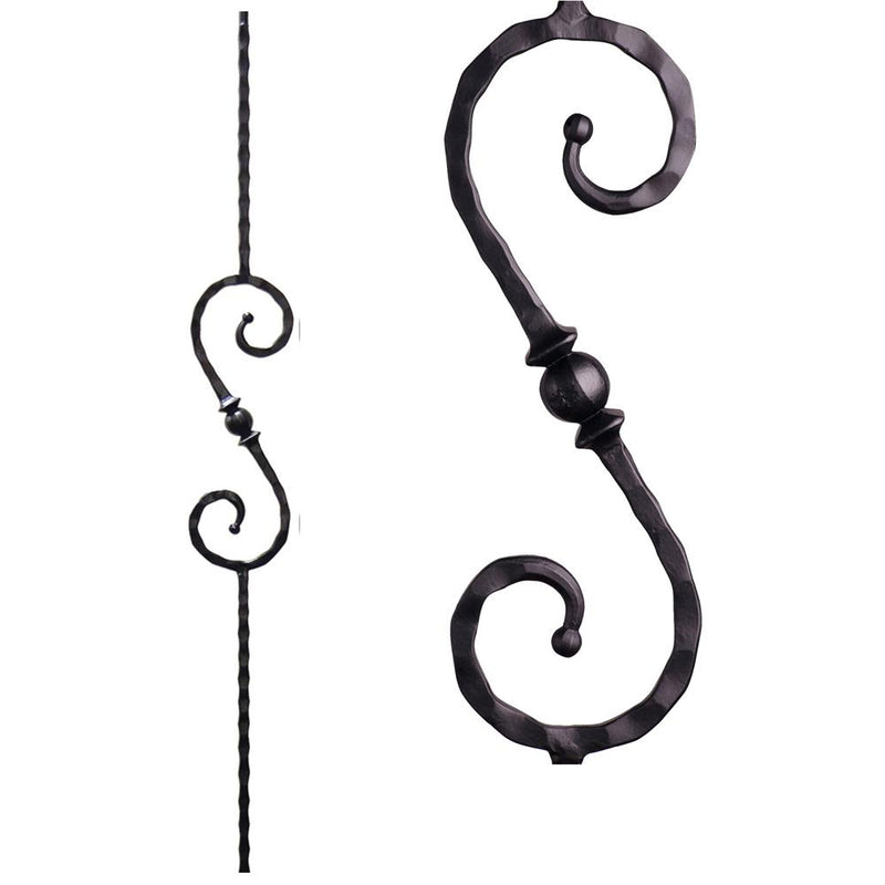 2.9.27 Single Sphere Iron Baluster - Cheap Stair Parts