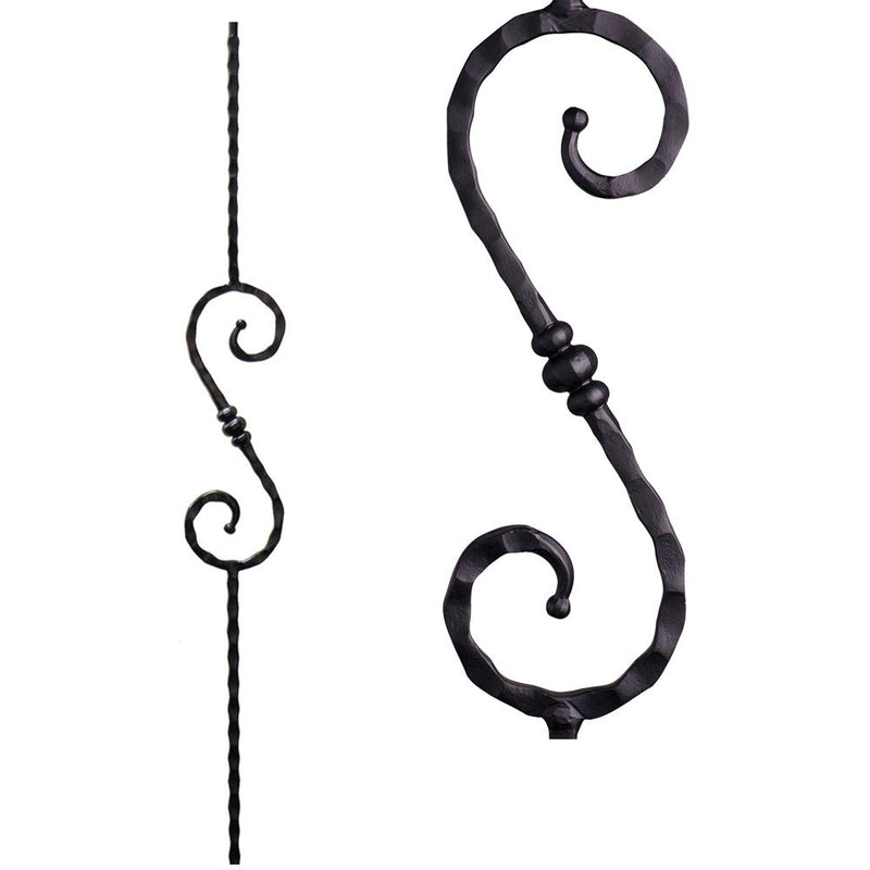 2.9.36 Single Knuckle Scroll Iron Baluster - Cheap Stair Parts