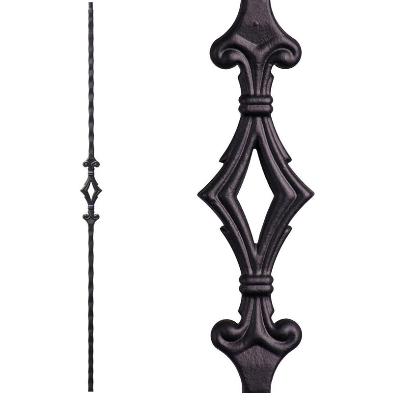 2.9.3 Single Diamond Iron Baluster - Cheap Stair Parts