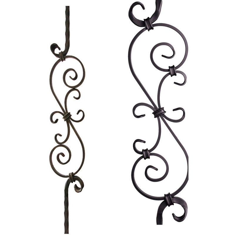 2.9.8 Large Spiral Scroll Iron Baluster - Cheap Stair Parts