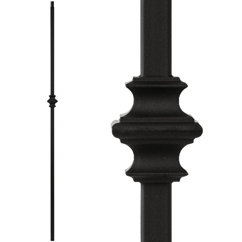34.1.34-T MEGA Single Knuckle Hollow Iron Baluster Iron Baluster House of Forgings