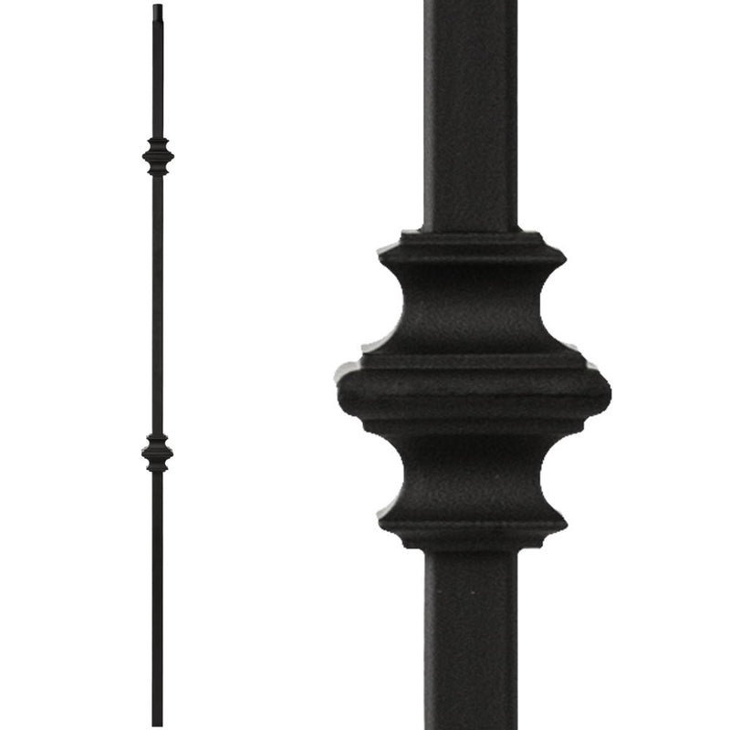 34.1.35-T MEGA Double Knuckle Hollow Iron Baluster - Cheap Stair Parts