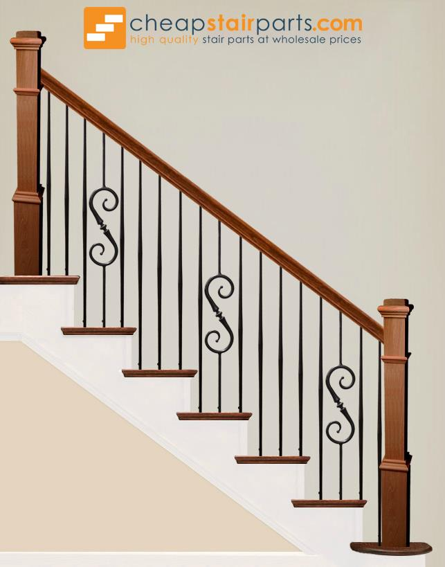 2.6.8 Plain Tapered Bar Iron Baluster - Cheap Stair Parts