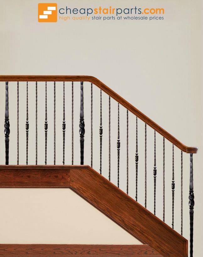 2.9.20 Plain Square Hammered Iron Baluster - Cheap Stair Parts
