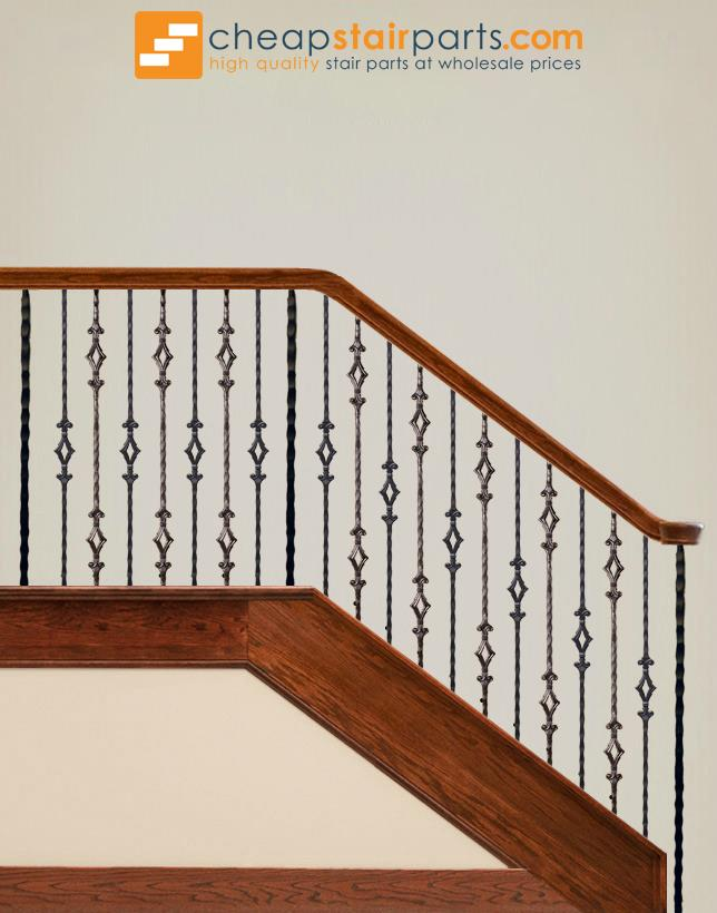 2.9.4 Double Diamond Iron Baluster - Cheap Stair Parts