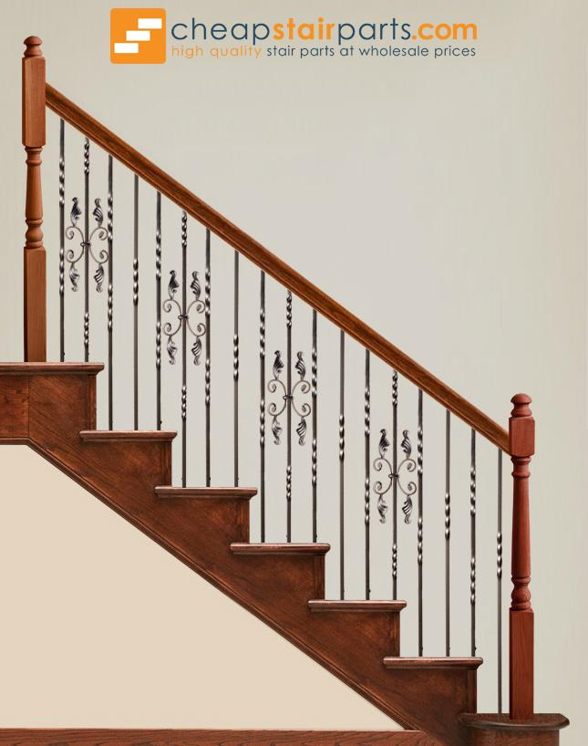 16.1.16 Double Twist Single Butterfly Iron Baluster - Copper Vein - Cheap Stair Parts