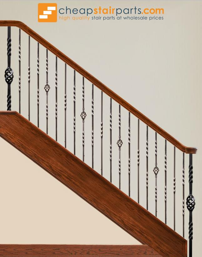 ... 16.1.2 T Double Twist Hollow Iron Baluster   Cheap Stair Parts