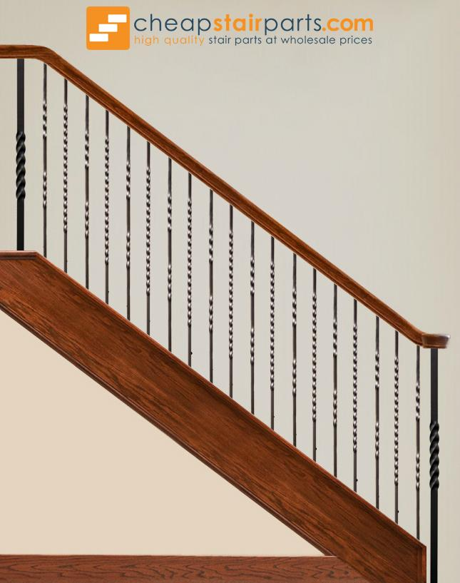 16.1.2-T Double Twist Hollow Iron Baluster - Cheap Stair Parts