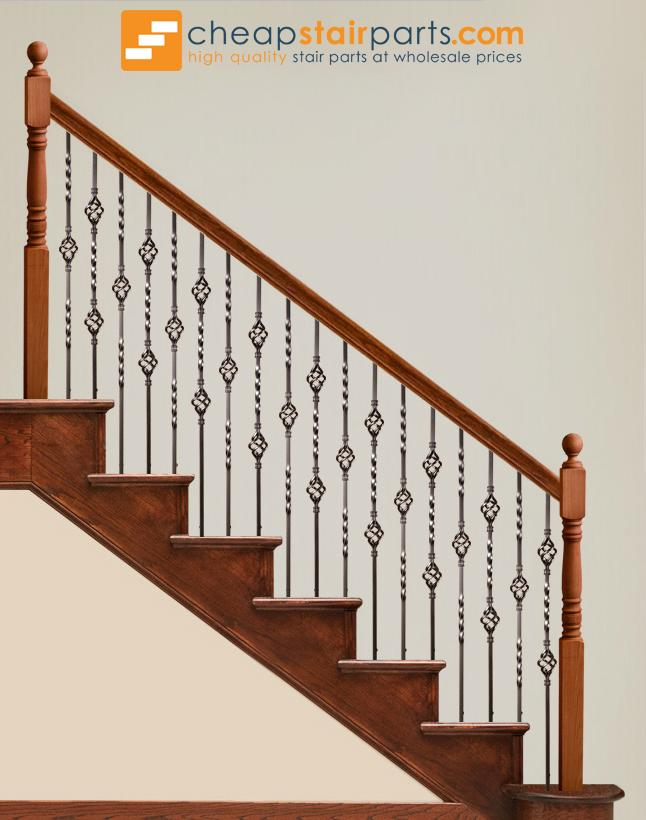 16.1.4-T Double Basket Hollow Iron Baluster - Cheap Stair Parts